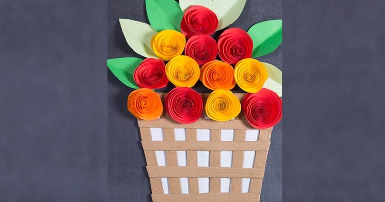 How to make paper rose flower with frame