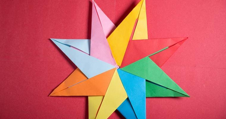 Origami Modular 8-Pointed Star