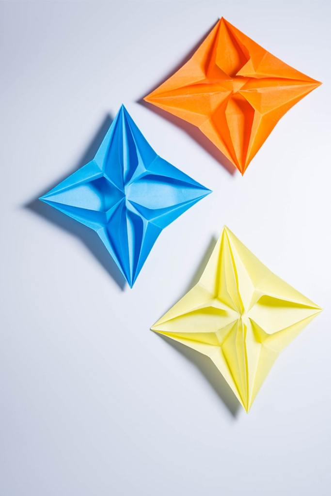origami pop up star