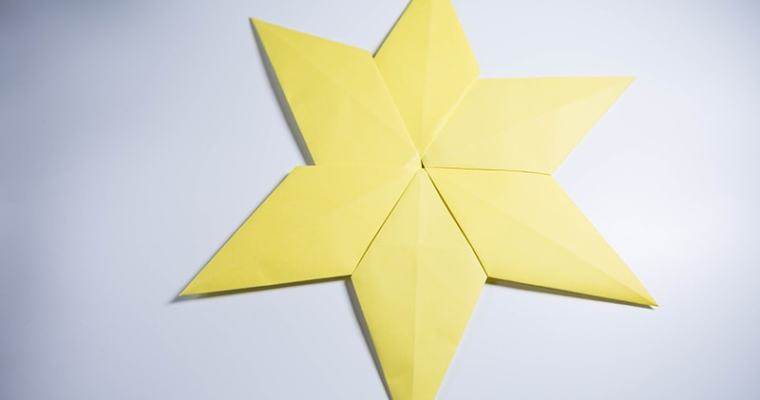 origami 6 pointed star