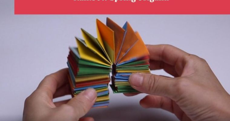 How to make origami spring