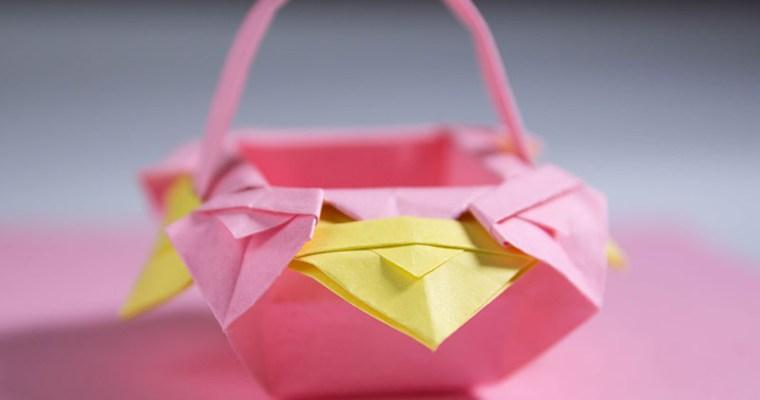 origami basket easy