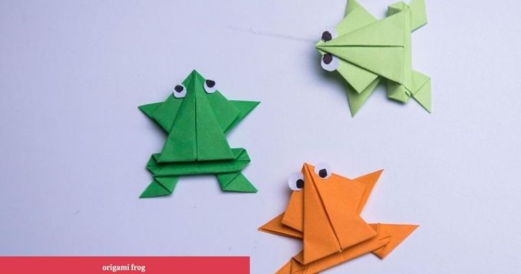 How do you make an origami frog that jumps?
