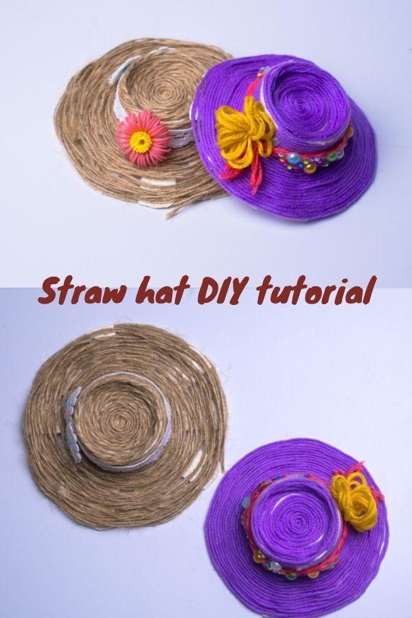 Straw hat DIY tutorial