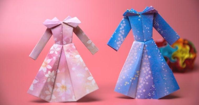 How To Make beautiful Paper Long dress