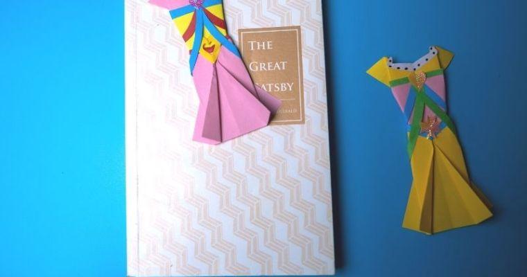 make origami clothing bookmark