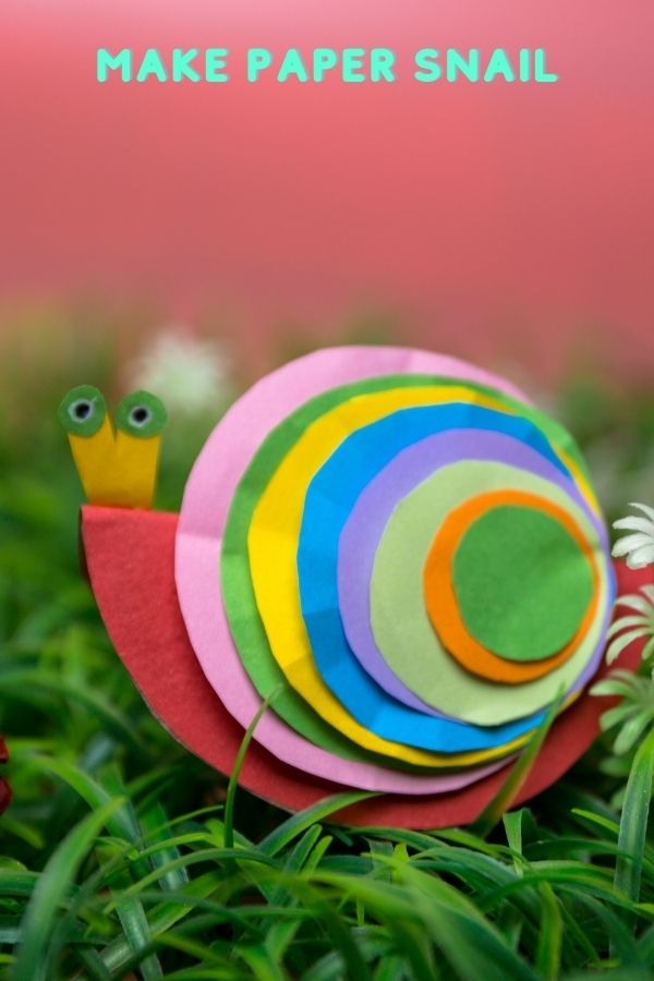 How to make paper Snail