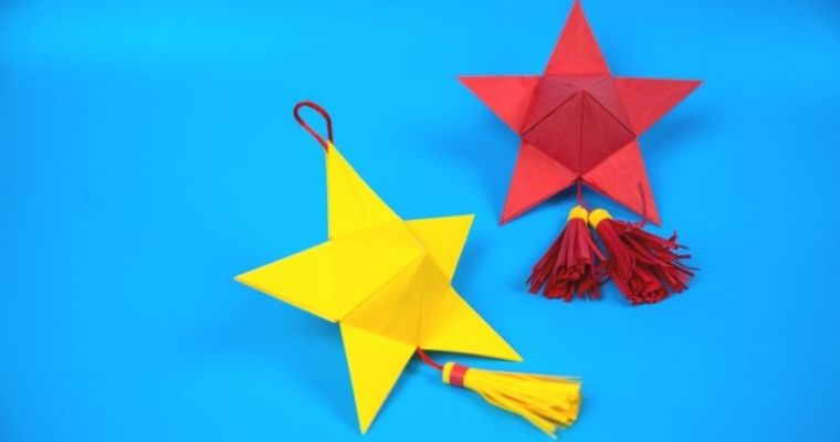 how to make a paper 5 point star 3D