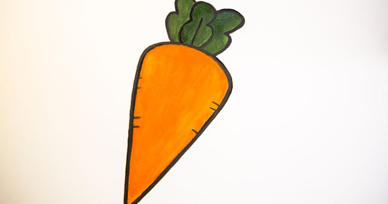 how to draw carrot step by step