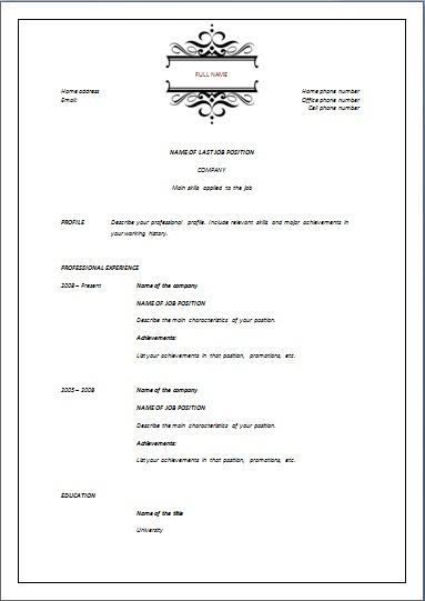 reverse chronological template elegant resume templates