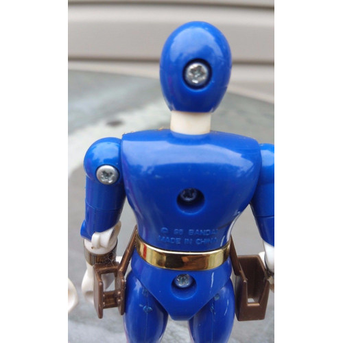 Bandai Power Rangers Ranger Figures 1996, 1997 lot 3 blue