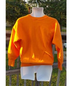 CHAMPION reverse weave sweatshirt Medium Bright Orange 80's 90's Made USA back