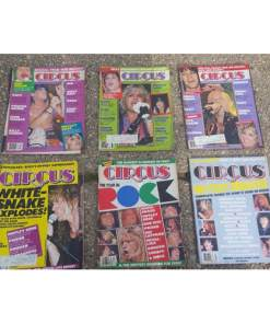 CIRCUS MUSIC MAGAZINE Lot 6. Halen, Ozzy, Crue