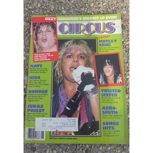 CIRCUS MUSIC MAGAZINE Lot 6. Halen,Ozzy, Crueratt