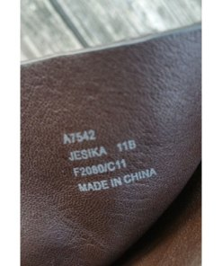 Coach Women's Brown Leather Jesika Mid Calf Ankle Double Strap Riding Boots 11 B label