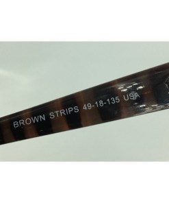 Gothamstyle Brown Stripes Eyeglasses Eyewear FRAME
