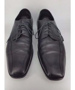 HUGO BOSS Black VAREB Oxford Mens Dress Leather Shoes us12 eu 45