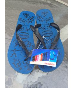 Havaianas Womens Slim Flip Flops SZ 9 Petroleum Blue. 100% Authenthic Ladies 741940045033.jpg