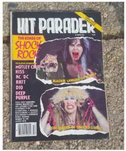Hit Parader Magazine lot 4. 1980's. Priest, Maiden, Leppard, ACDCkiss