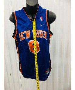 Latrell Sprewell NIKE New York Knicks SEWN NBA THROWBACK JERSEY YOUTH LARGE measured