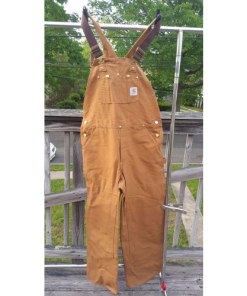 Men's Carhartt Carpenter Zip Overall Wheat 100% Cotton 34x32