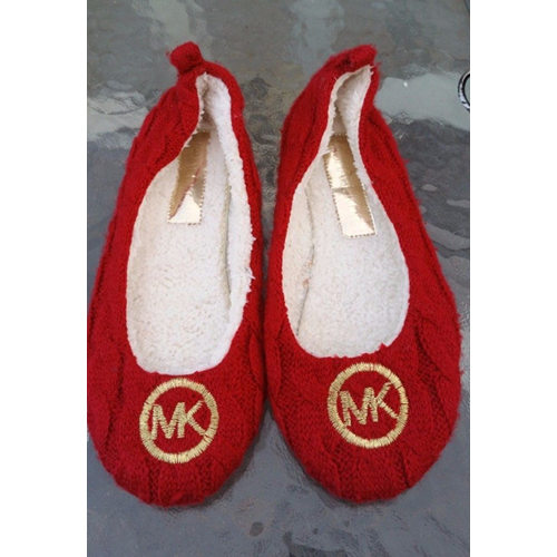 Michael Kors Womens Red Knit Slip On Ballet-Casual-Flats (ZARITA) Sz 6