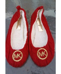 Michael Kors Womens Red Knit Slip On Ballet-Casual-Flats (ZARITA) Sz 6