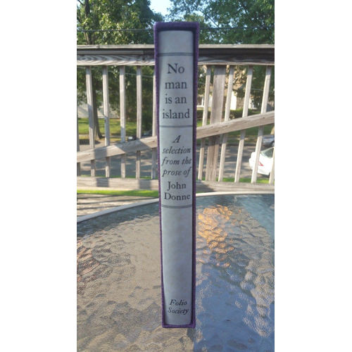 No Man Is An Island by John Donne The Folio Society 1997 Illustrated with Slipcover slip