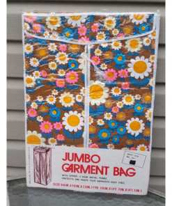 Retro Jumbo Garment Bag Closet Storage Floral Bag