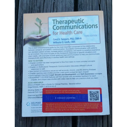 Therapeutic Communications for Health Care Carol D. Tampar & Wilburta 9781418032647 back