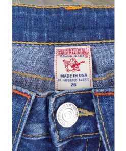 True Religion Julie Section Denim Jeans Pants Blue Size 26 Distressed size