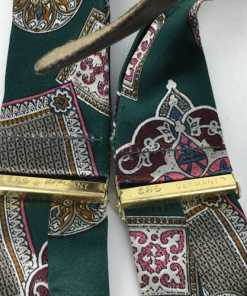 CAS GERMANY FLORAL ART SILK SUSPENDERS BRACES TAG2