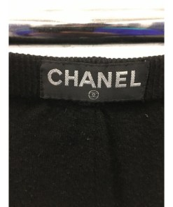 CHANEL BOUTIQUE 100% CASHMERE Logos Tights Sz 36. Style P02208 logo