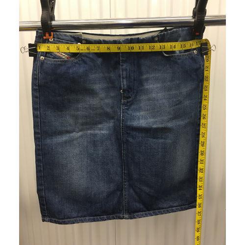 Diesel Industry Blue Jean Denim Pencil Skirt Womens Size 31 made in Italy waist
