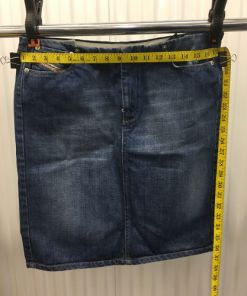 Diesel Industry Blue Jean Denim Pencil Skirt Womens Size 31 made in Italy waist