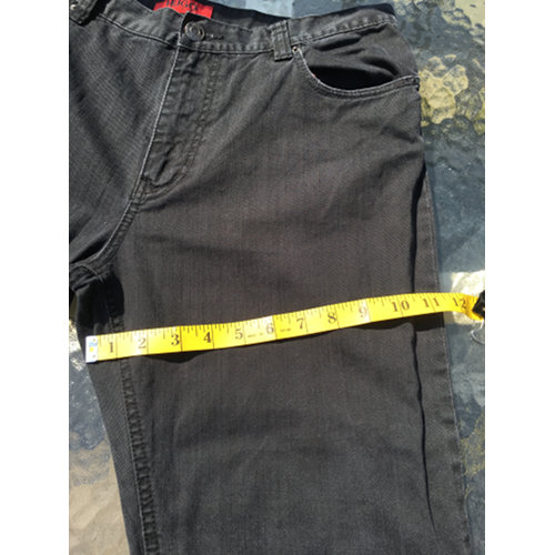 HUGO BOSS Red Label Stretch Black Straight Jeans Size 34 34 measurement