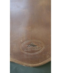 High Sierra Leather & Canvas Garment Bag . Leather Canvas. logo
