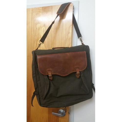 High Sierra Leather & Canvas Garment Bag . Leather Canvas