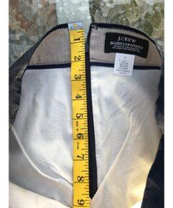 J Crew Baird McNutt 100% Linen Skirt Size 8 Blue Womens zipper