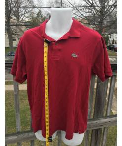Lacoste Polo Shirt Made in France Size 6 Red length