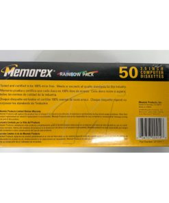 Memorex PC Formatted 3.5 Inch Diskettes – 50 Count Rainbow Pack 034707004146