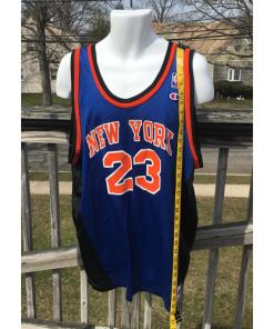 New York Knicks Marcus Camby NBA Jersey 2xl Champion Vintage 52 Size 2xl measured