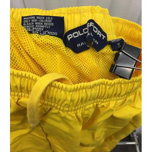 Polo Sport Track Pants Mens S Joggers Yellow 90s Ralph Lauren Zip tag