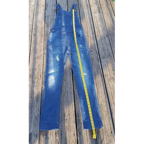 S.P.C.C DENIM BLUE OVERALLS UNISEX SZ 30 length
