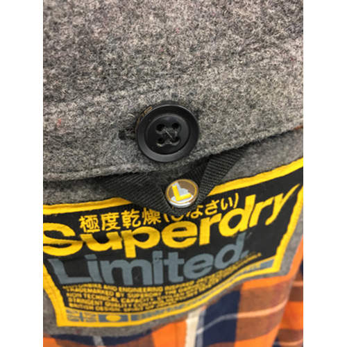 Superdry British Design Men Classic Wool Duffle Coat Jacket Limited Sz L size