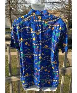 Universal Studios Button Up Designed Shirt Adult M back