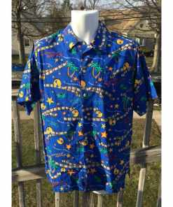 Universal Studios Button Up Designed Shirt Adult M