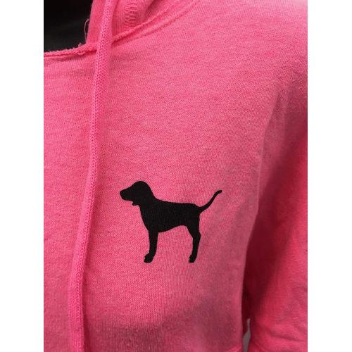 Victoria's Secret Love Pink (Pink) dog full zip hoodie Animal print size XS dog