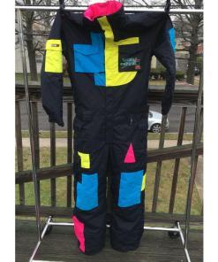 Vintage Totally Radical 686 Gaper One Piece Snow Ski Suit Large