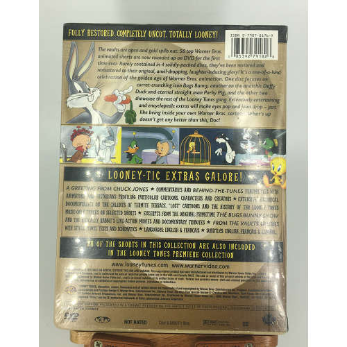 Looney Tunes Golden Collection Vol 1 dvd 4 disc set back 085392791828